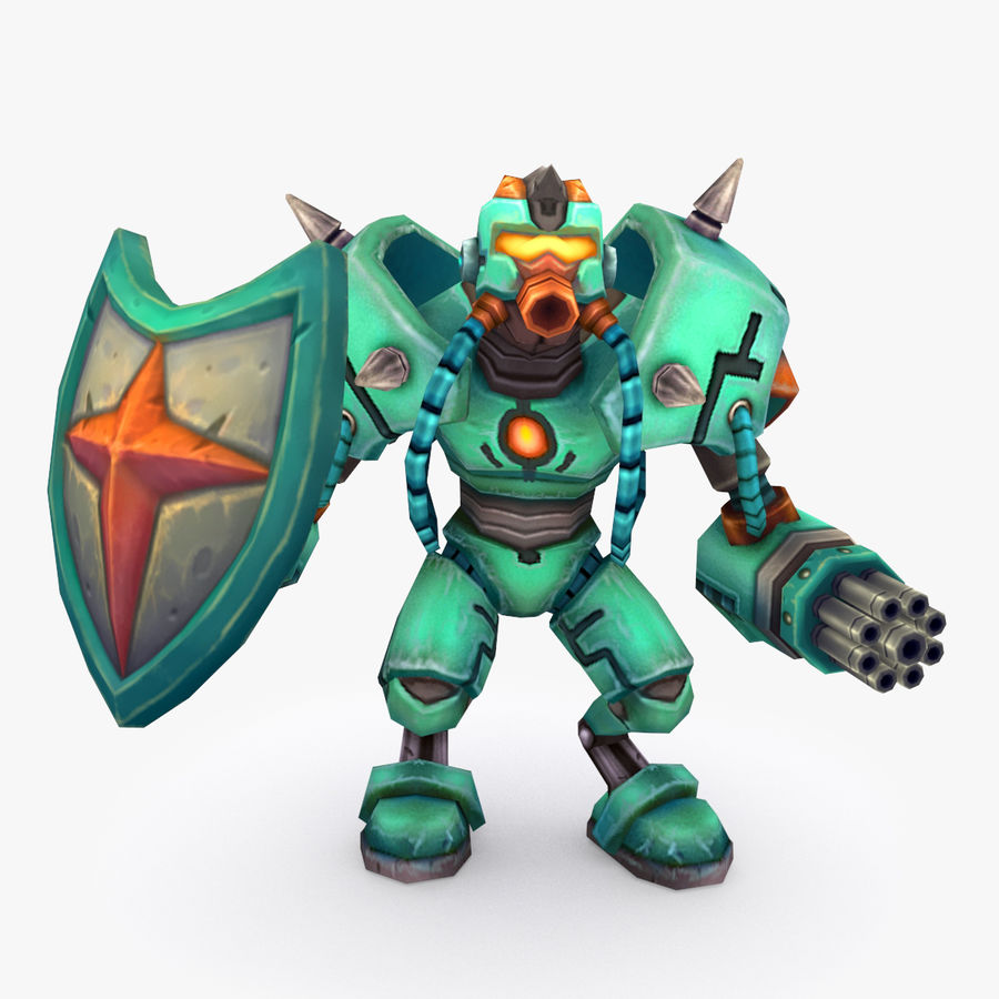 Animated Rigged Robot Type G royalty-free 3d model - Preview no. 1