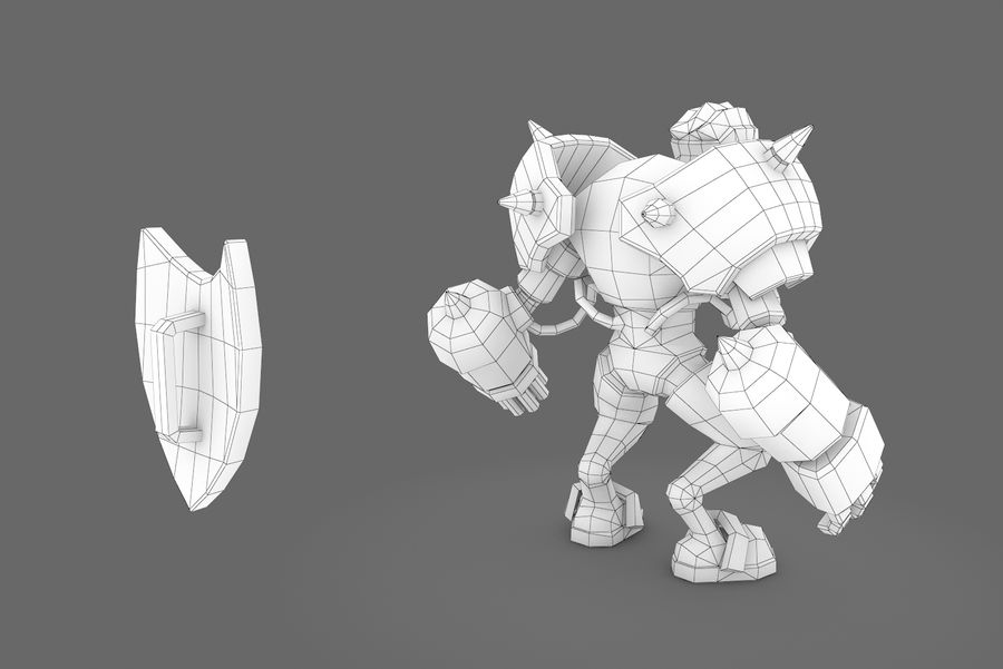 Animated Rigged Robot Type G royalty-free 3d model - Preview no. 12