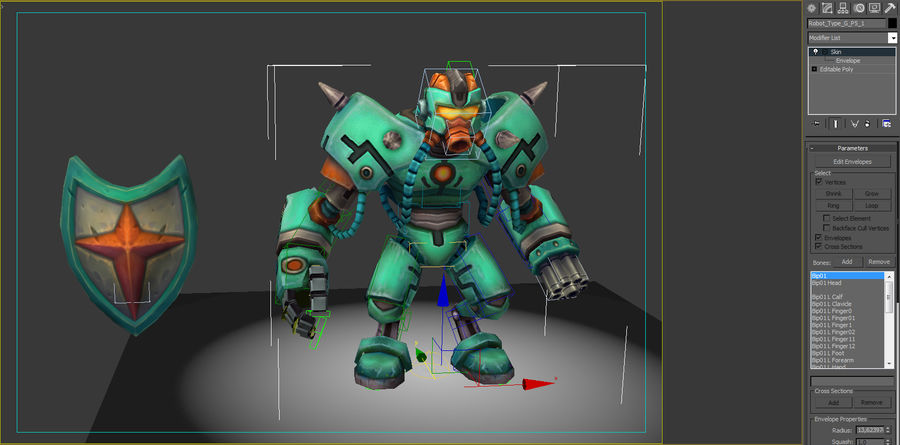 Animated Rigged Robot Type G royalty-free 3d model - Preview no. 8