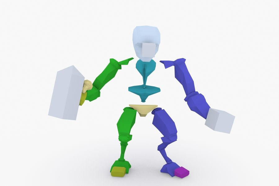 Animated Rigged Robot Type G royalty-free 3d model - Preview no. 9