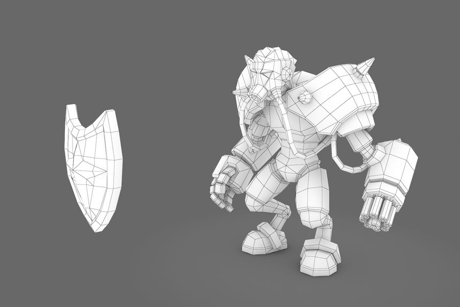 Animated Rigged Robot Type G royalty-free 3d model - Preview no. 14