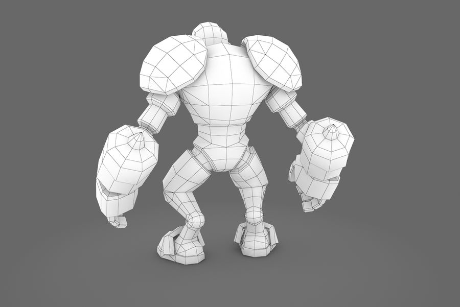 Animated Rigged Robot Type H royalty-free 3d model - Preview no. 4