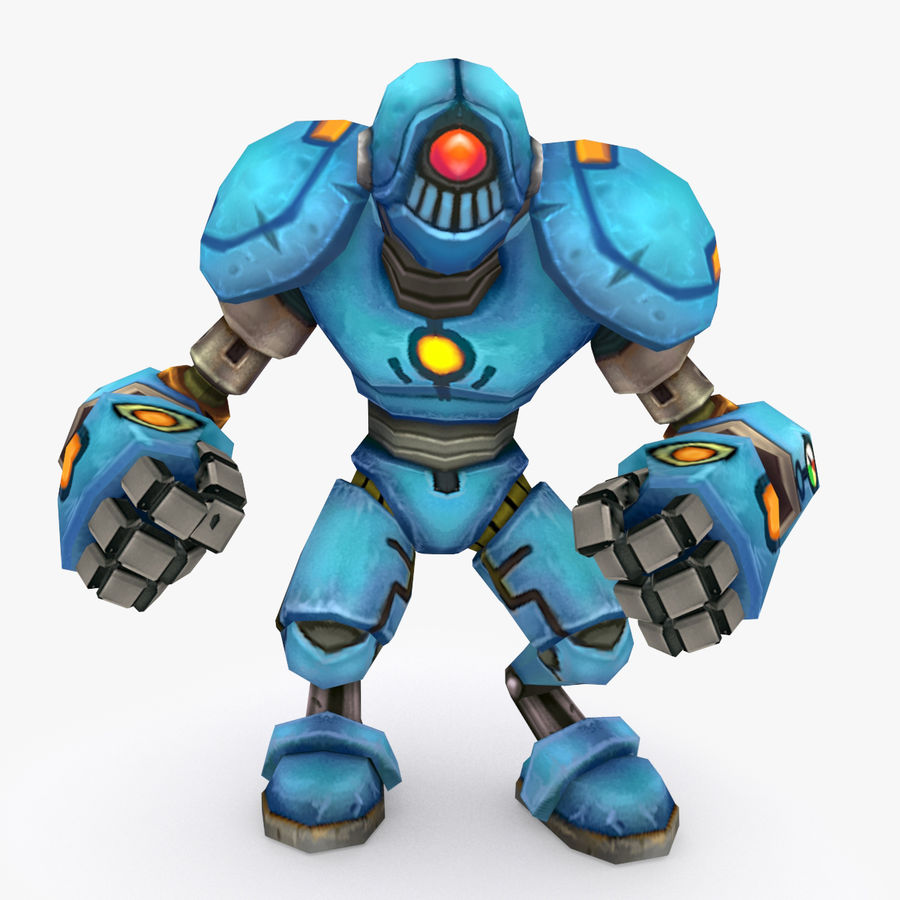 Animated Rigged Robot Type H royalty-free 3d model - Preview no. 1
