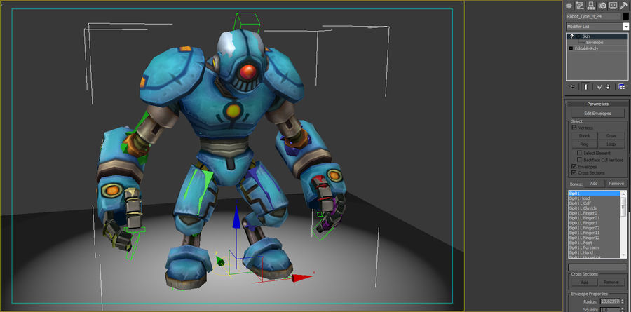 Animated Rigged Robot Type H royalty-free 3d model - Preview no. 8