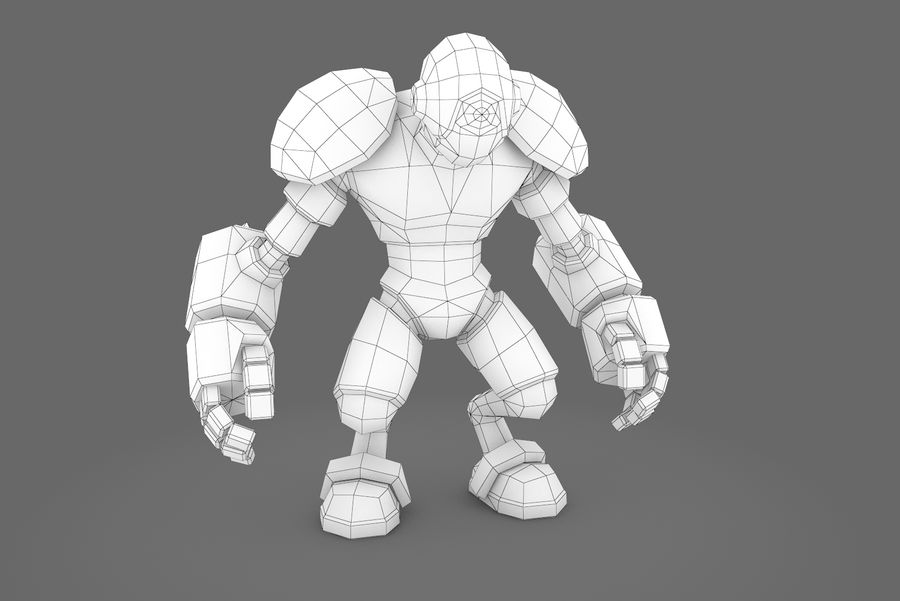 Animated Rigged Robot Type H royalty-free 3d model - Preview no. 10