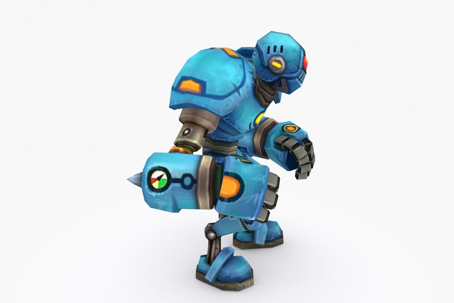 Animated Rigged Robot Type H royalty-free 3d model - Preview no. 5