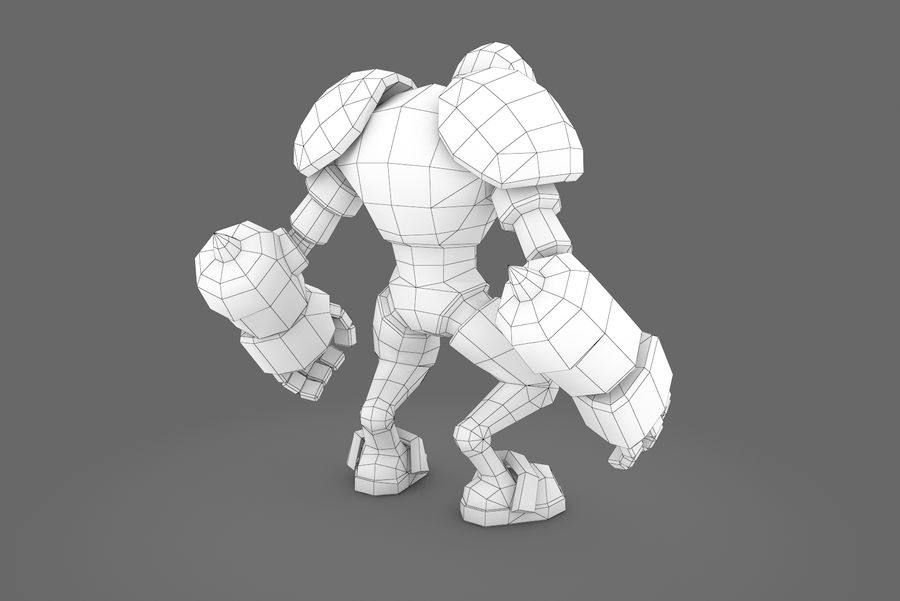 Animated Rigged Robot Type H royalty-free 3d model - Preview no. 12