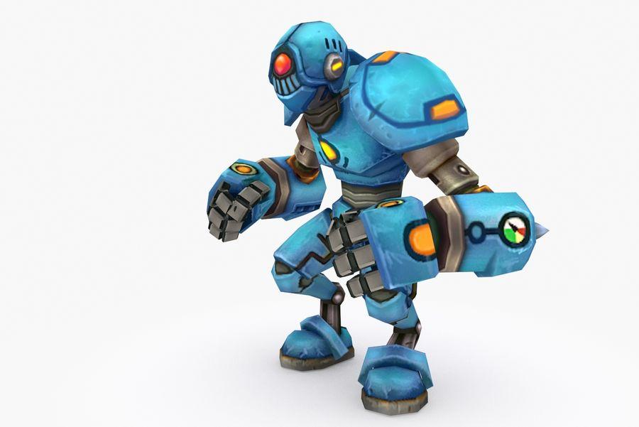 Animated Rigged Robot Type H royalty-free 3d model - Preview no. 3