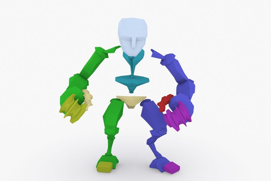 Animated Rigged Robot Type H royalty-free 3d model - Preview no. 9