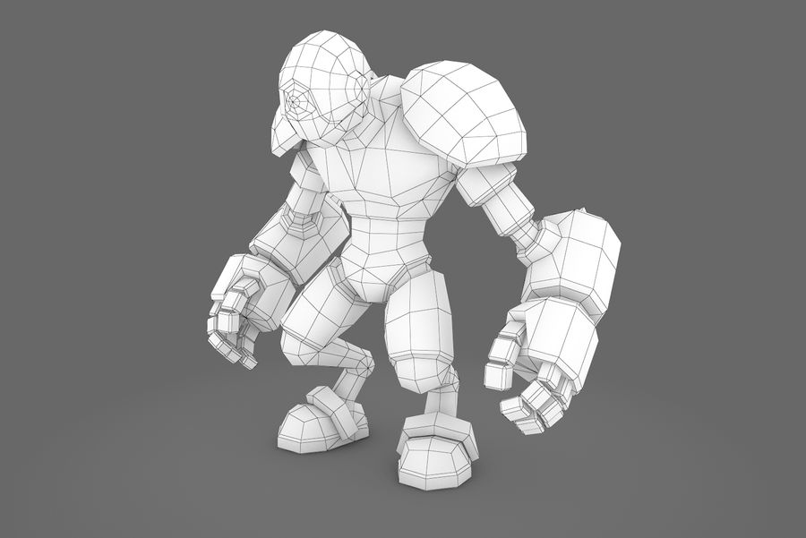 Animated Rigged Robot Type H royalty-free 3d model - Preview no. 14