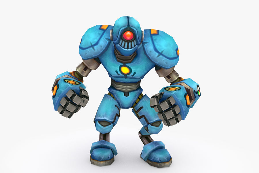 Animated Rigged Robot Type H royalty-free 3d model - Preview no. 2