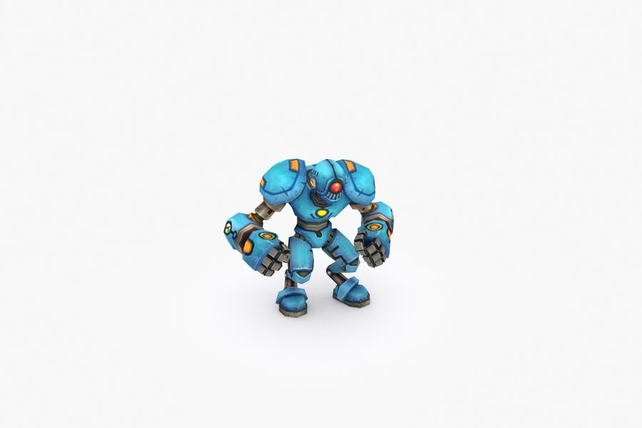 Animated Rigged Robot Type H royalty-free 3d model - Preview no. 6