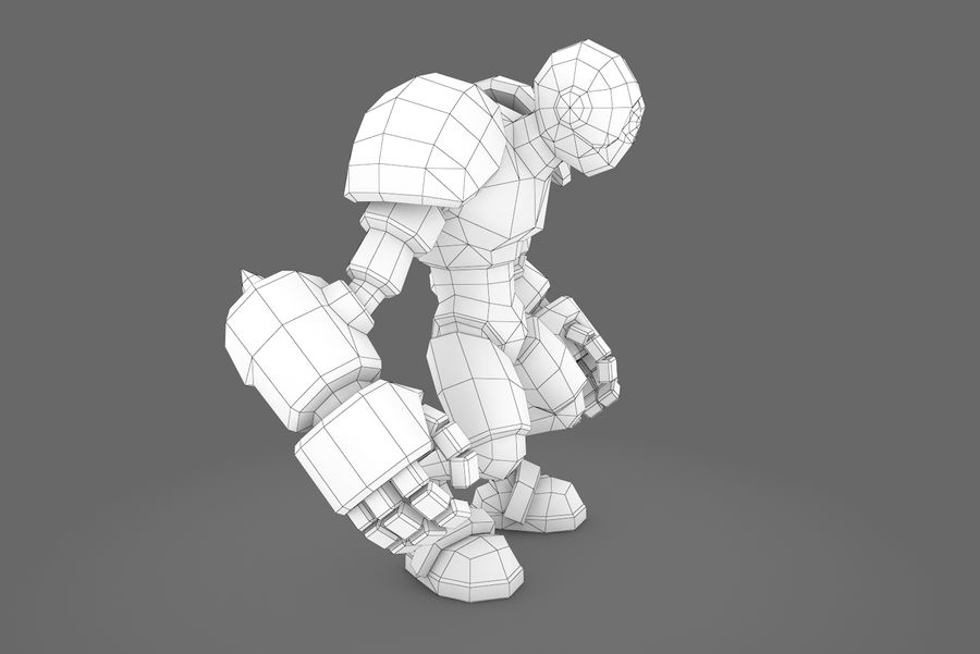 Animated Rigged Robot Type H royalty-free 3d model - Preview no. 11