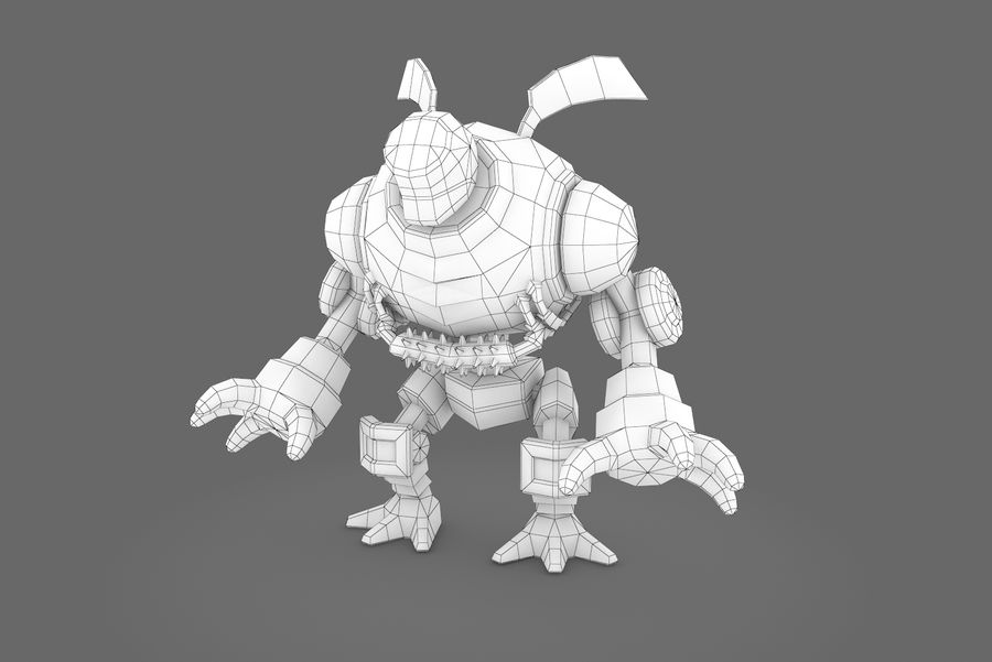 Animated Rigged Robot Type I royalty-free 3d model - Preview no. 4