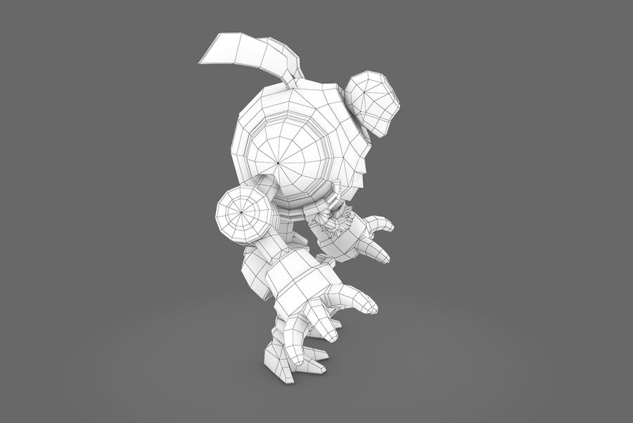 Animated Rigged Robot Type I royalty-free 3d model - Preview no. 1