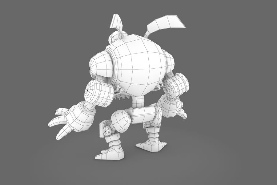 Animated Rigged Robot Type I royalty-free 3d model - Preview no. 3