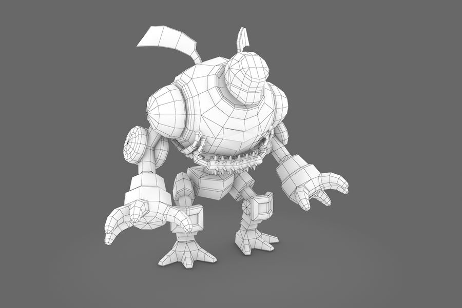 Animated Rigged Robot Type I royalty-free 3d model - Preview no. 10