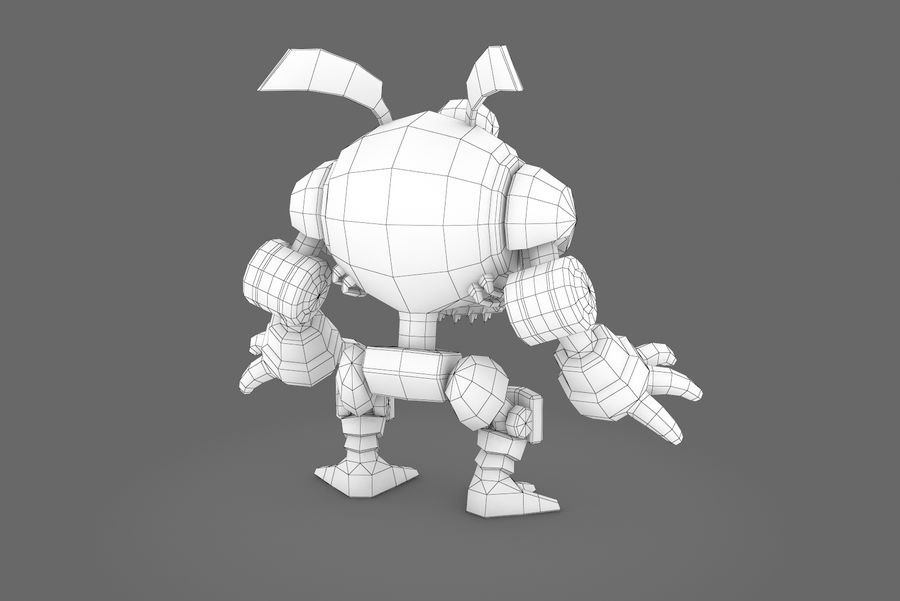 Animated Rigged Robot Type I royalty-free 3d model - Preview no. 2