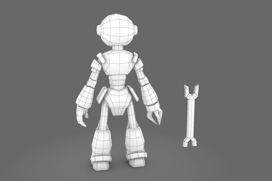 Animated Rigged Robot Type K royalty-free 3d model - Preview no. 13