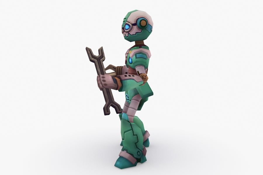 Animated Rigged Robot Type K royalty-free 3d model - Preview no. 3