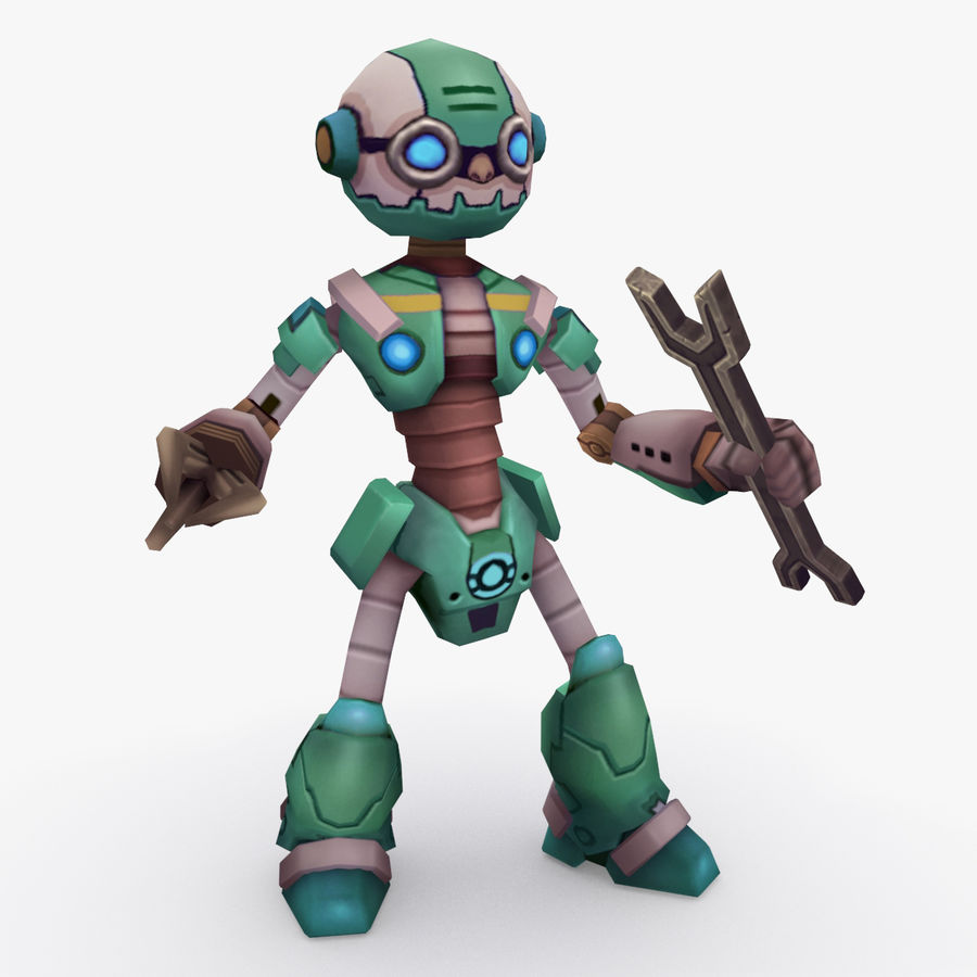 Animated Rigged Robot Type K royalty-free 3d model - Preview no. 1