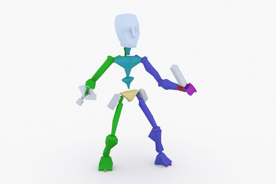 Animated Rigged Robot Type K royalty-free 3d model - Preview no. 9