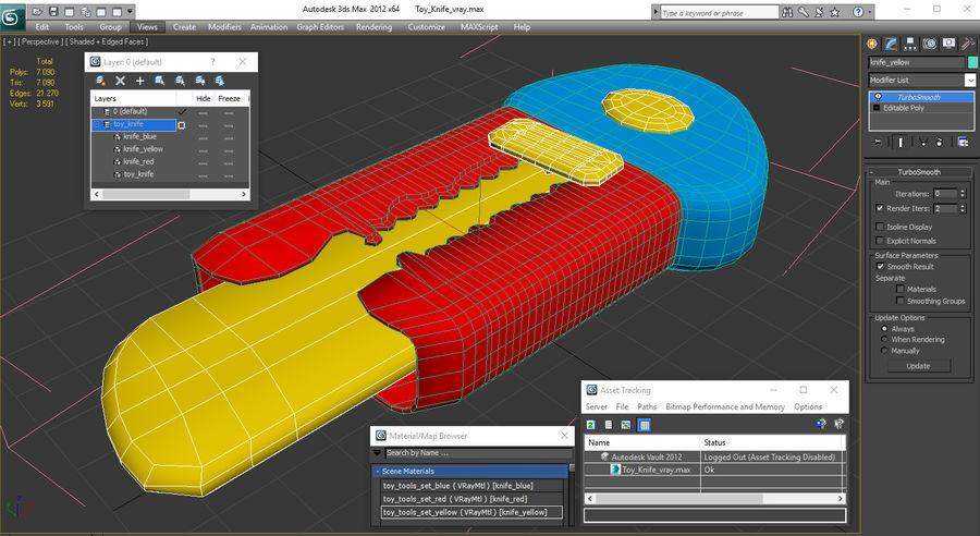 Toy Knife Modèle 3D royalty-free 3d model - Preview no. 14