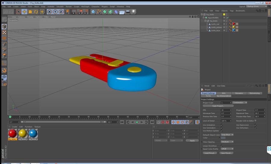 Toy Knife Modèle 3D royalty-free 3d model - Preview no. 13