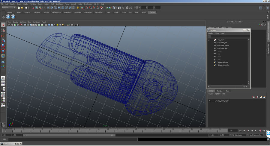 Toy Knife Modèle 3D royalty-free 3d model - Preview no. 12