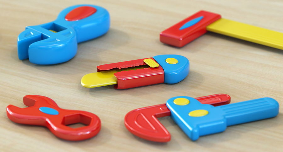 Toy Knife Modèle 3D royalty-free 3d model - Preview no. 3