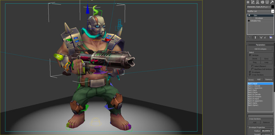 Animated Rigged Character Type M royalty-free 3d model - Preview no. 7