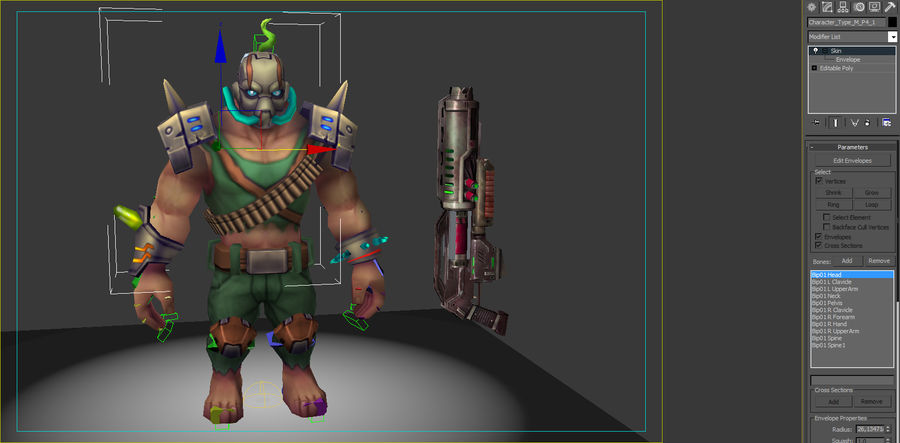 Animated Rigged Character Type M royalty-free 3d model - Preview no. 8