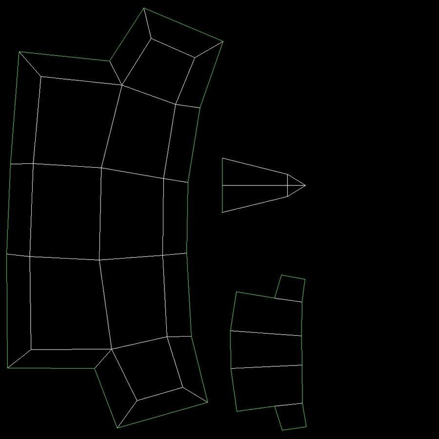 动画索具角色类型M royalty-free 3d model - Preview no. 20