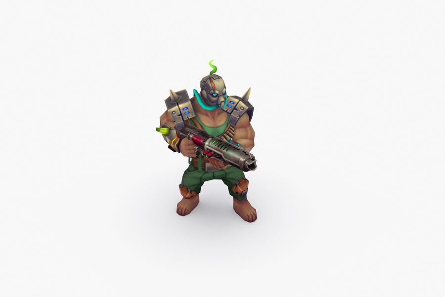 Animated Rigged Character Type M royalty-free 3d model - Preview no. 6