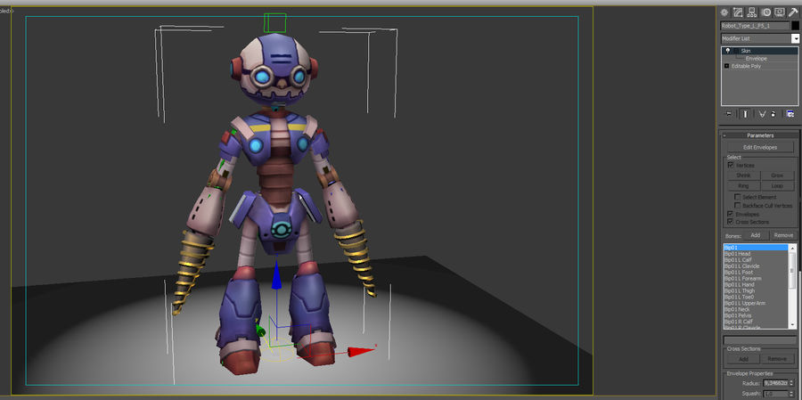 Animated Rigged Robot Type L royalty-free 3d model - Preview no. 10