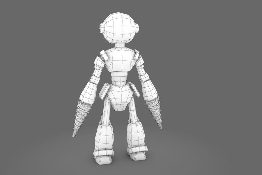 Animated Rigged Robot Type L royalty-free 3d model - Preview no. 3