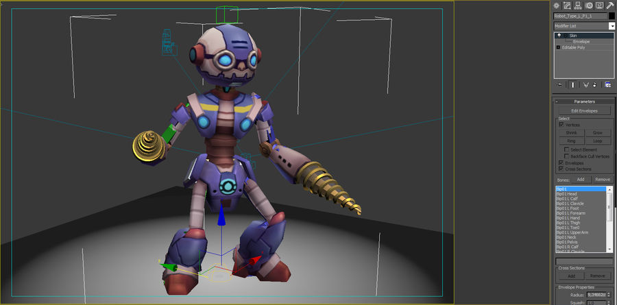 Animated Rigged Robot Type L royalty-free 3d model - Preview no. 9