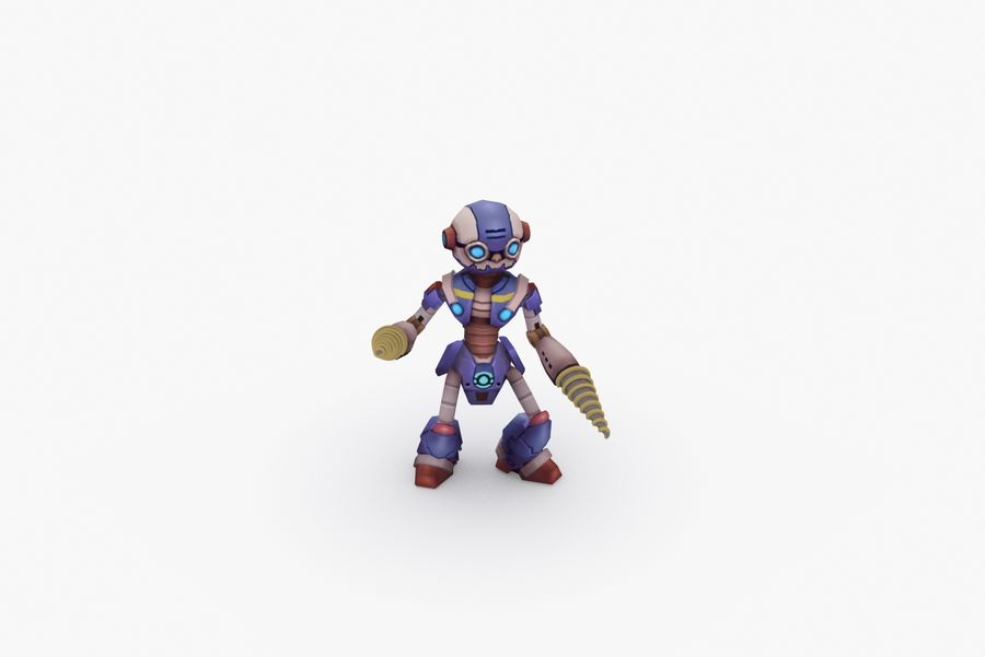 Animated Rigged Robot Type L royalty-free 3d model - Preview no. 8