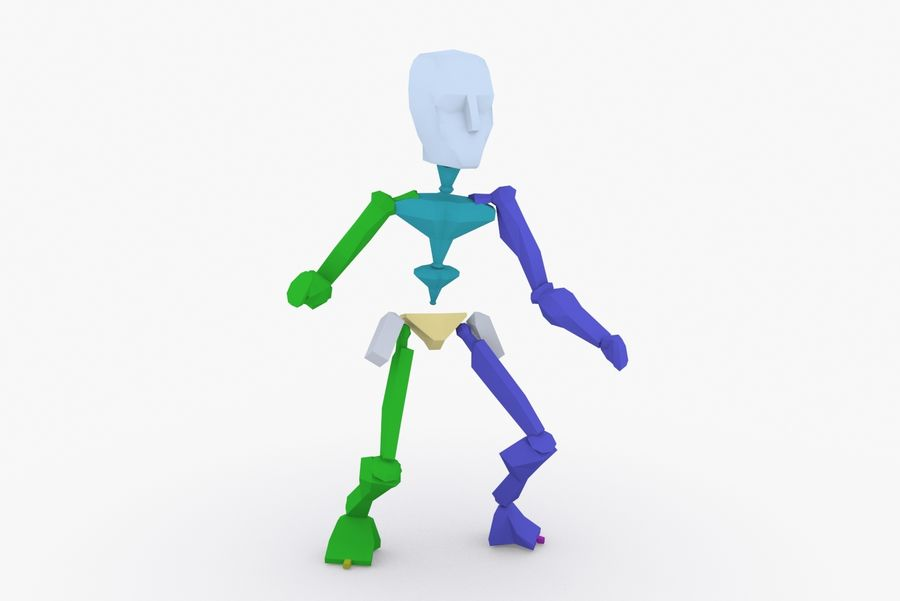 Animated Rigged Robot Type L royalty-free 3d model - Preview no. 11
