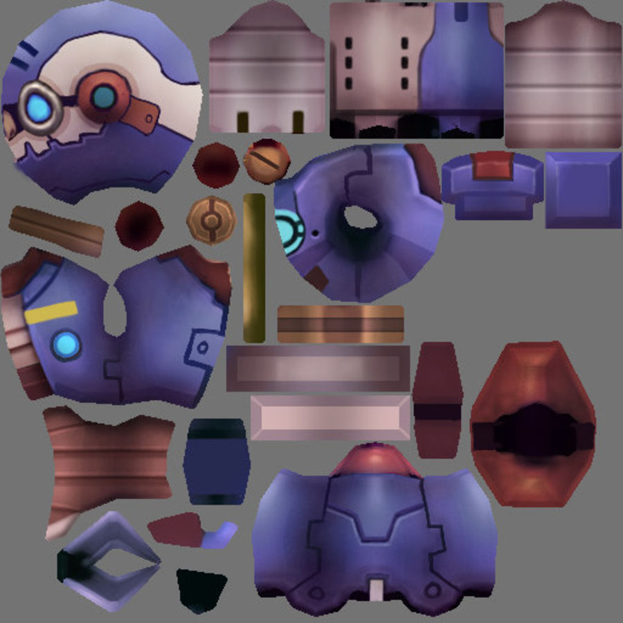 Animated Rigged Robot Type L royalty-free 3d model - Preview no. 6