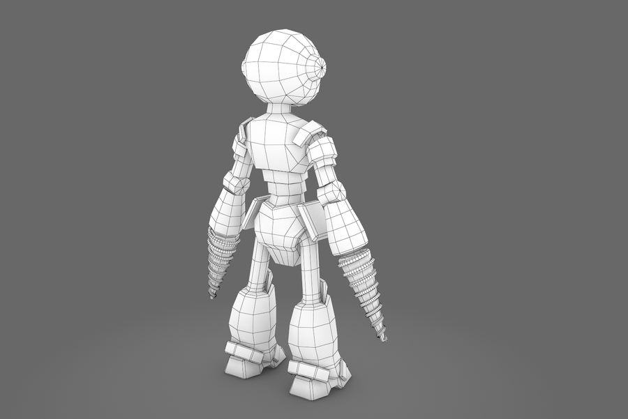Animated Rigged Robot Type L royalty-free 3d model - Preview no. 2