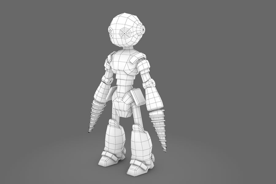 Animated Rigged Robot Type L royalty-free 3d model - Preview no. 4