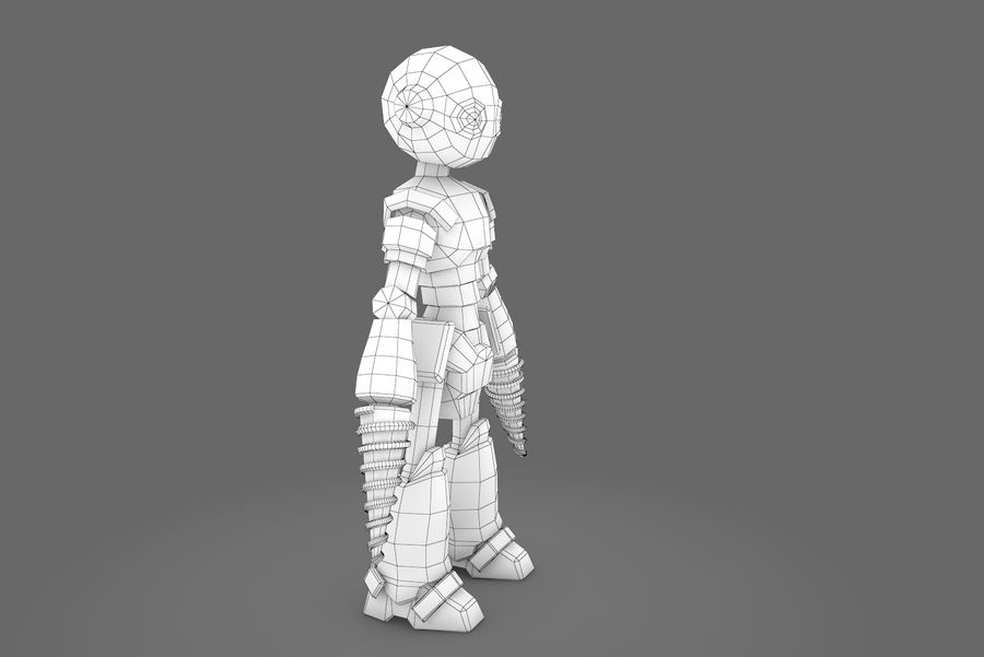 Animated Rigged Robot Type L royalty-free 3d model - Preview no. 1