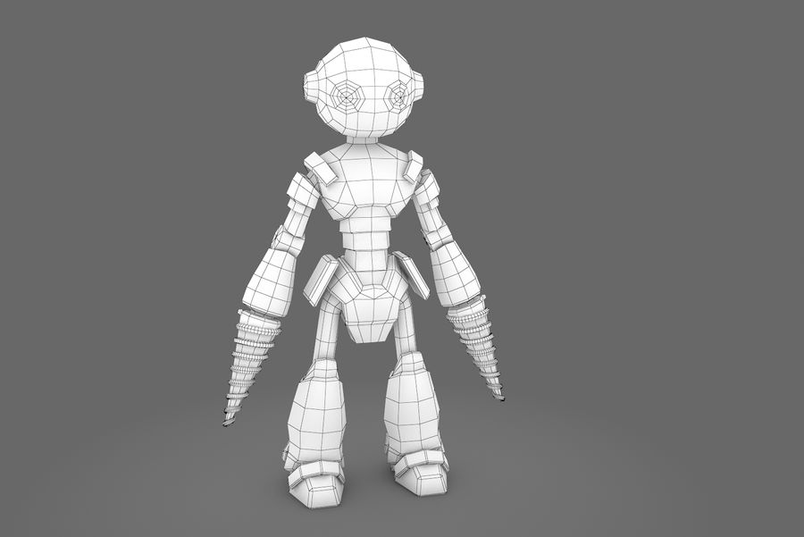 Animated Rigged Robot Type L royalty-free 3d model - Preview no. 12