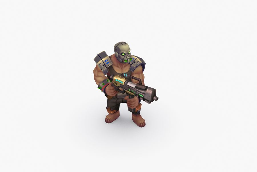 Animated Rigged Character Type N royalty-free 3d model - Preview no. 6