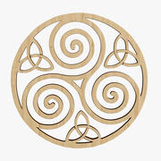 4 단계 제조 디자인 Triskelion Celtic Knot 3d model