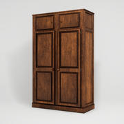 Realistic Wooden Closet 3d model