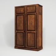 Realistico armadio in legno 3d model