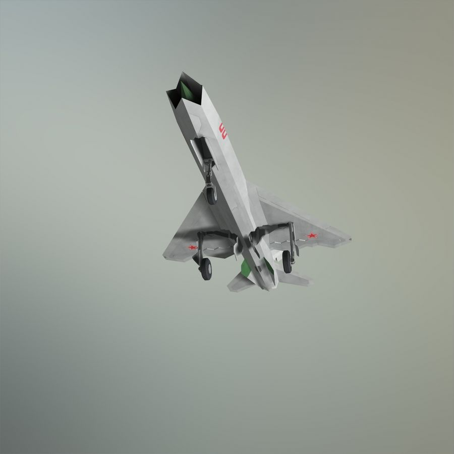 MIG-21Z-F Stealth-jager royalty-free 3d model - Preview no. 13