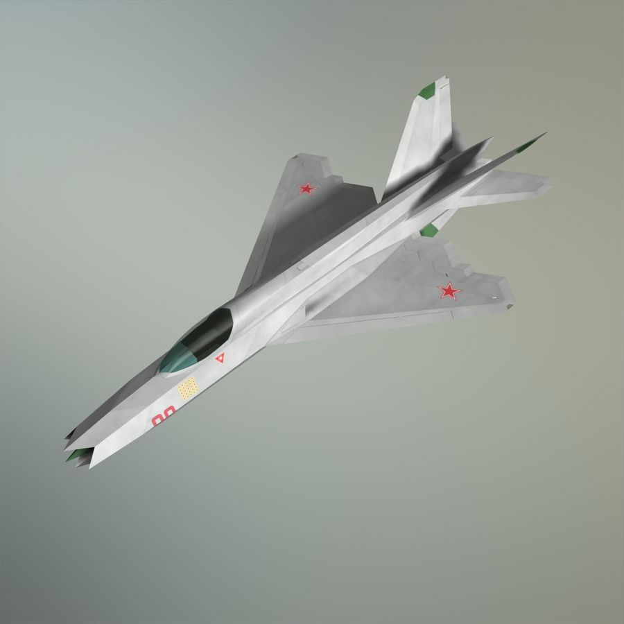MIG-21Z-F Stealth-jager royalty-free 3d model - Preview no. 27